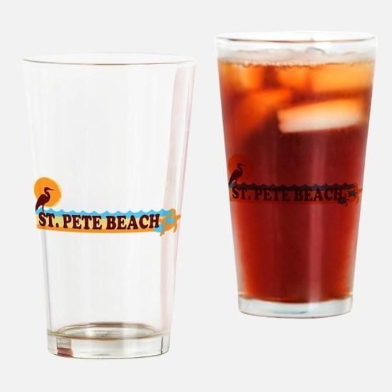 St. Pete Beach - Beach Design. Drinking Glass