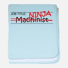 Job Ninja Machinist baby blanket
