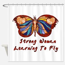 Strong Woman Learning To Fly Shower Curtain
