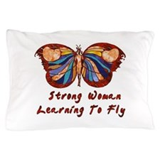 Strong Woman Learning To Fly Pillow Case