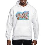 Map Of Sicily Hooded Sweatshirt