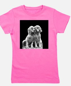 english setter pups round.png Girl's Tee