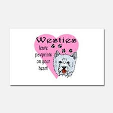 westies paw prints1.png Car Magnet 20 x 12
