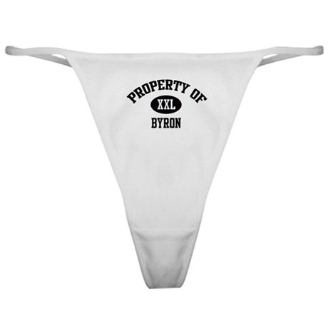 Property of Byron Classic Thong