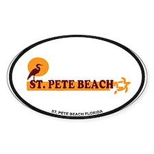 St. Pete Beach - Beach Design. Decal