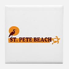St. Pete Beach - Beach Design. Tile Coaster