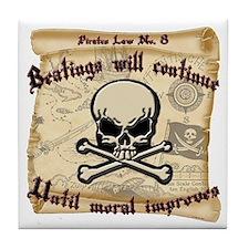 Pirates Law #8 Tile Coaster
