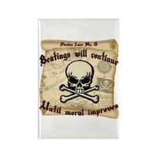 Pirates Law #8 Rectangle Magnet