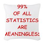 STATISITCS Woven Throw Pillow