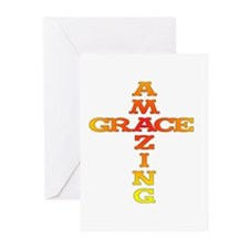 Amazing Grace cross Greeting Cards (Pk of 10)