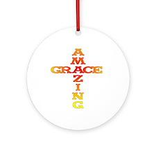 Amazing Grace cross Ornament (Round)