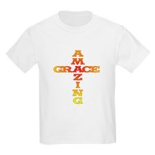 Amazing Grace cross Kids T-Shirt