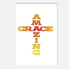 Amazing Grace cross Postcards (Package of 8)