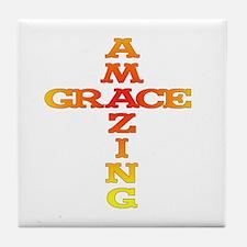 Amazing Grace cross Tile Coaster
