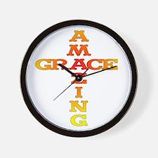 Amazing Grace cross Wall Clock
