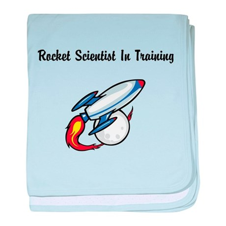 Rocket Scientist In Training baby blanket