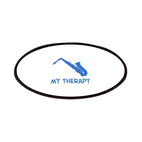 Saxophone my therapy Patches by Longislandteez