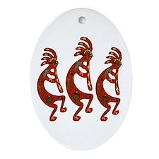 Lizard Kokopelli Ornament (Oval)