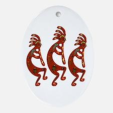 Lizard Kokopelli Oval Ornament
