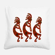 Lizard Kokopelli Square Canvas Pillow