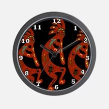 Lizard Kokopelli Wall Clock