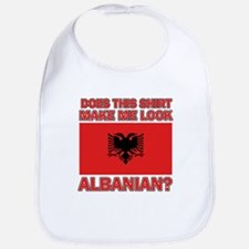 Albanian Flag Designs Bib