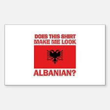 Albanian Flag Designs Decal