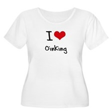 I Love Oinking Plus Size T-Shirt