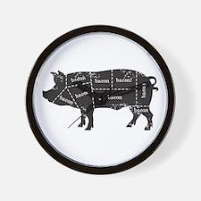 Bacon Pig Wall Clock