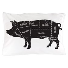 Bacon Pig Pillow Case