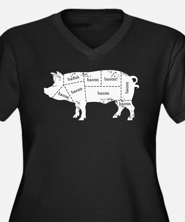 Bacon Pig Plus Size T-Shirt