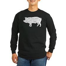 Bacon Pig Long Sleeve T-Shirt