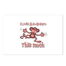 I Love Alejandra Postcards (Package of 8)