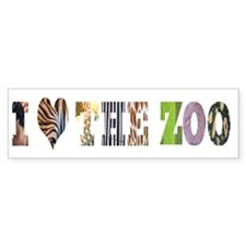i love the zoo Bumper Bumper Sticker