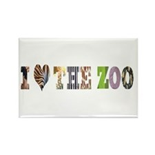 i love the zoo Rectangle Magnet