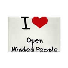 I Love Open Minded People Rectangle Magnet
