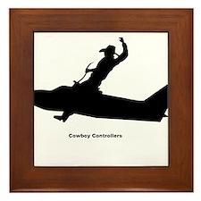 Air Traffic Cowboy Phraseology Framed Tile