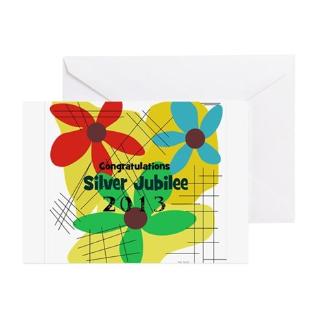 Silver Jubilee CP Greeting Cards (Pk of 10)