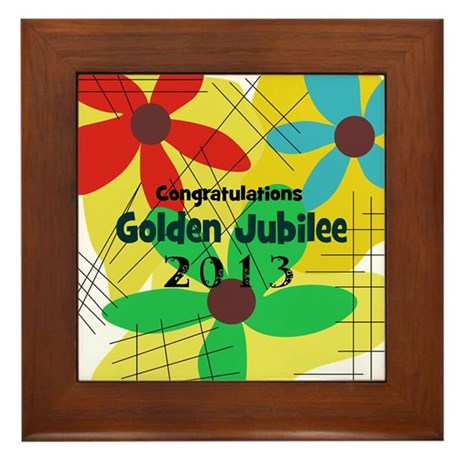 Golden Jubilee Framed Tile