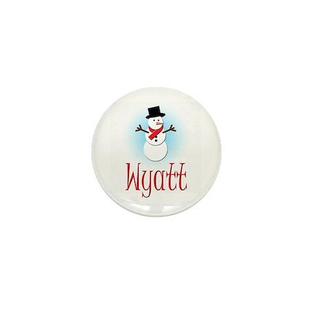 Snowman - Wyatt Mini Button