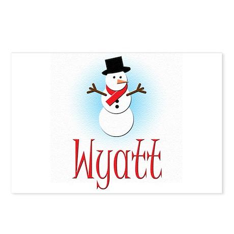 Snowman - Wyatt Postcards (Package of 8)