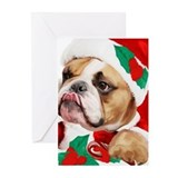 Bulldog christmas Greeting Cards (20 Pack)