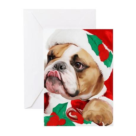 bulldog candy cane Greeting Cards (Pk of 20)