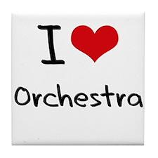 I Love Orchestra Tile Coaster