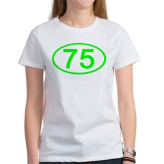 Number 75 Oval Women's T-Shirt