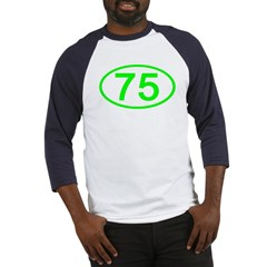 Number 75 Oval Baseball Jersey