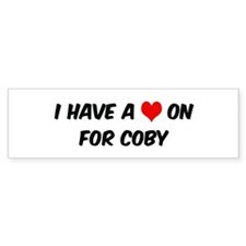 Heart on for Coby Bumper Car Sticker