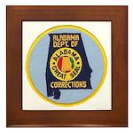 Alabama Corrections Framed Tile