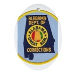 Alabama Corrections Oval Ornament