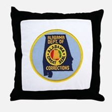 Alabama Corrections Throw Pillow